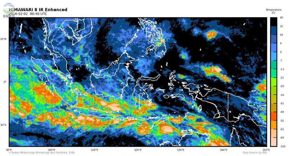 Waspada Peningkatan Curah Hujan Seminggu Kedepan di Pulau Jawa