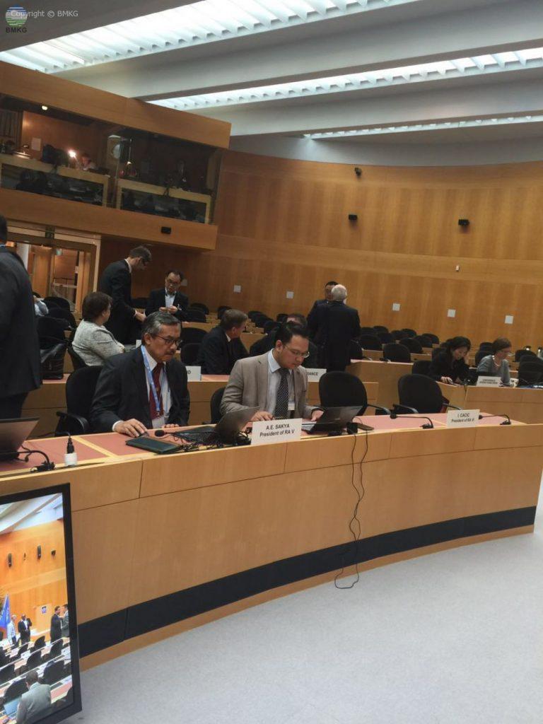 KBMKG Ikuti Pertemuan Finac 35 di WMO