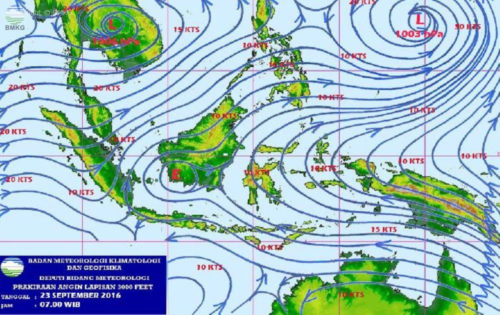 Waspada Potensi Hujan Lebat Di Wilayah Indonesia 3 Hari ke Depan (22-25 September 2016)