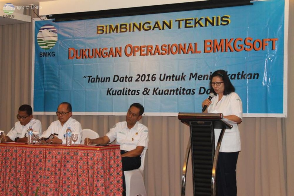 Bimbingan Teknis Dukungan Operasional BMKGsoft Balai Besar MKG Wilayah IV