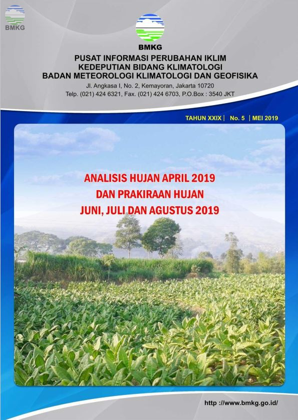Buletin Hujan Bulanan di Indonesia - Updated Mei 2019