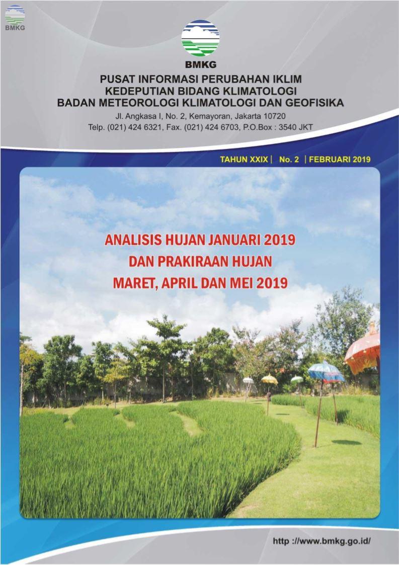 Buletin Hujan Bulanan di Indonesia - Updated Februari 2019