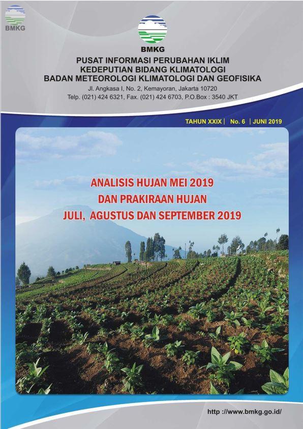 Buletin Hujan Bulanan di Indonesia - Updated Juni 2019