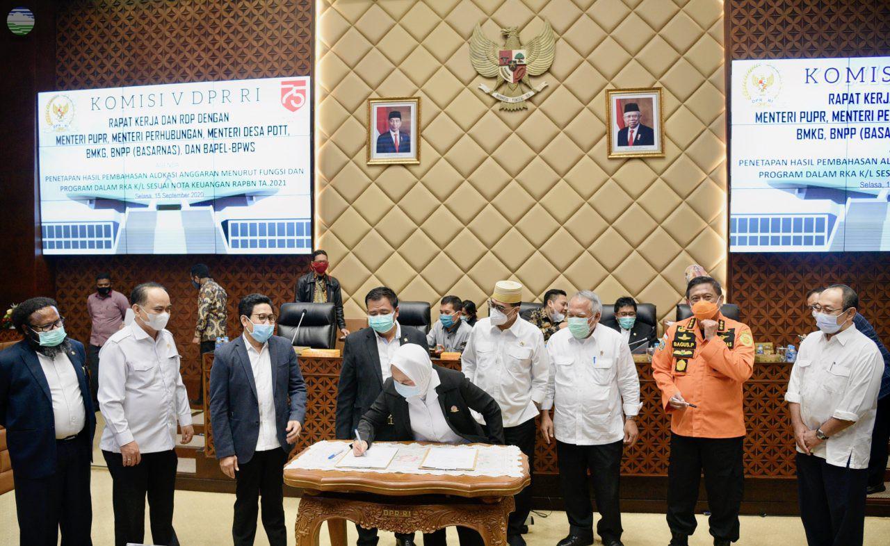 Komisi V DPR RI Tetapkan Alokasi Anggaran BMKG dalam RKA K/L TA 2021