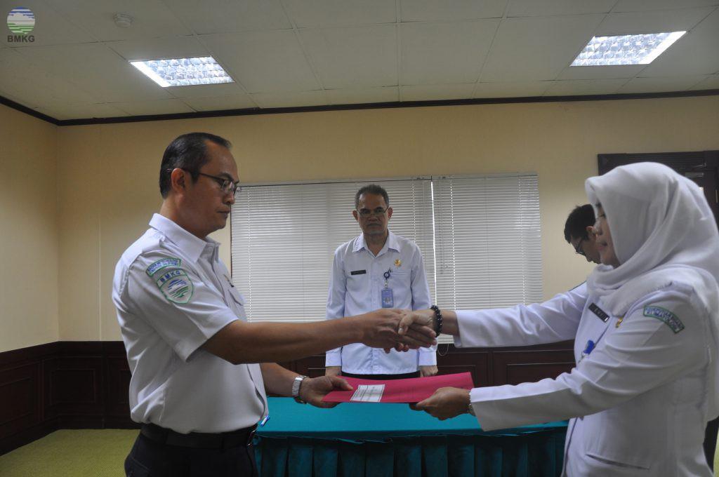 Serah Terima Jabatan Di Kedeputian Bidang Klimatologi BMKG