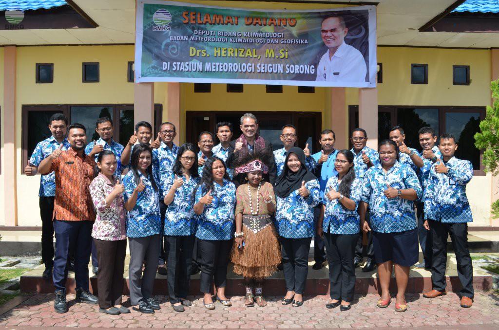 Kunjungan Kerja Deputi Klimatologi di Kota Sorong