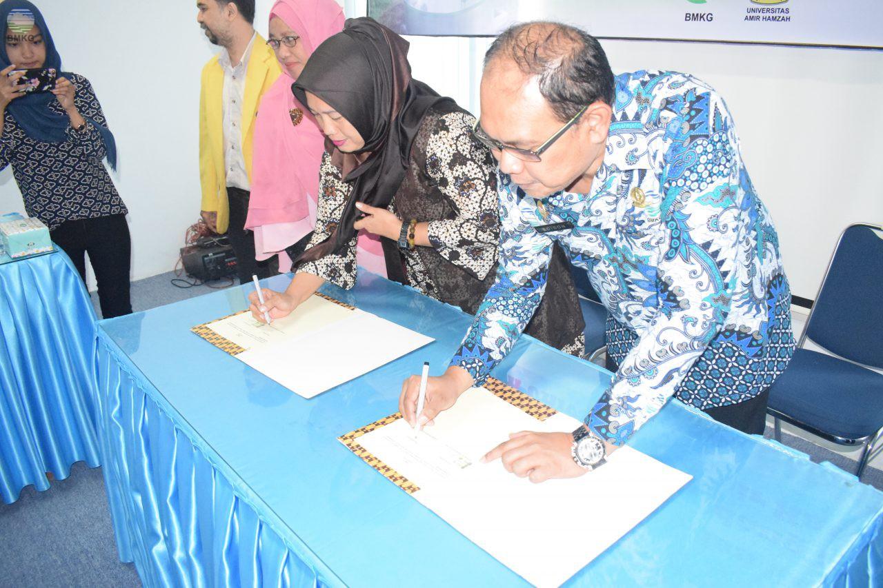 Penandatanganan Perjanjian Kerjasama antara BMKG dengan Universitas Amir Hamzah Medan