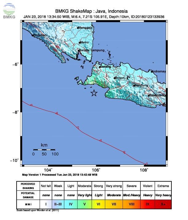 Gempabumi Tektonik M=6.1 Mengguncang Selatan Jawa Tidak Berpotensi Tsunami