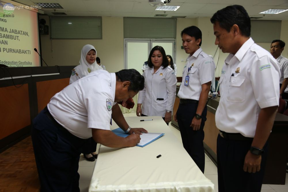 Serah Terima Jabatan di Lingkungan Kedeputian Geofisika