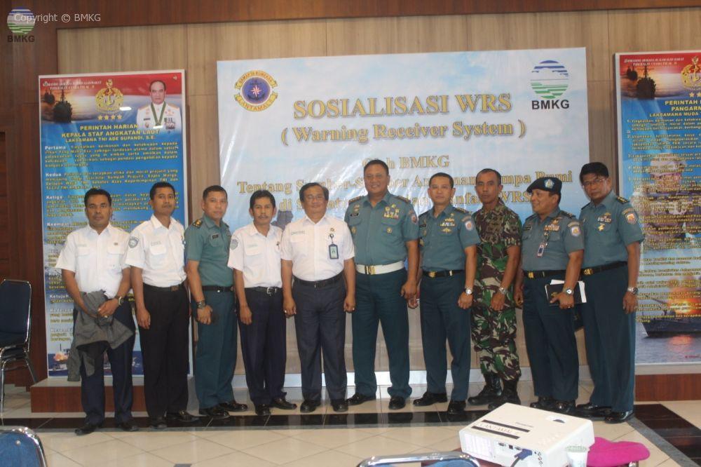 Sosialisasi Gempabumi Dan Tsunami Bagi Para Perwira Pangkalan Utama TNI AL Padang