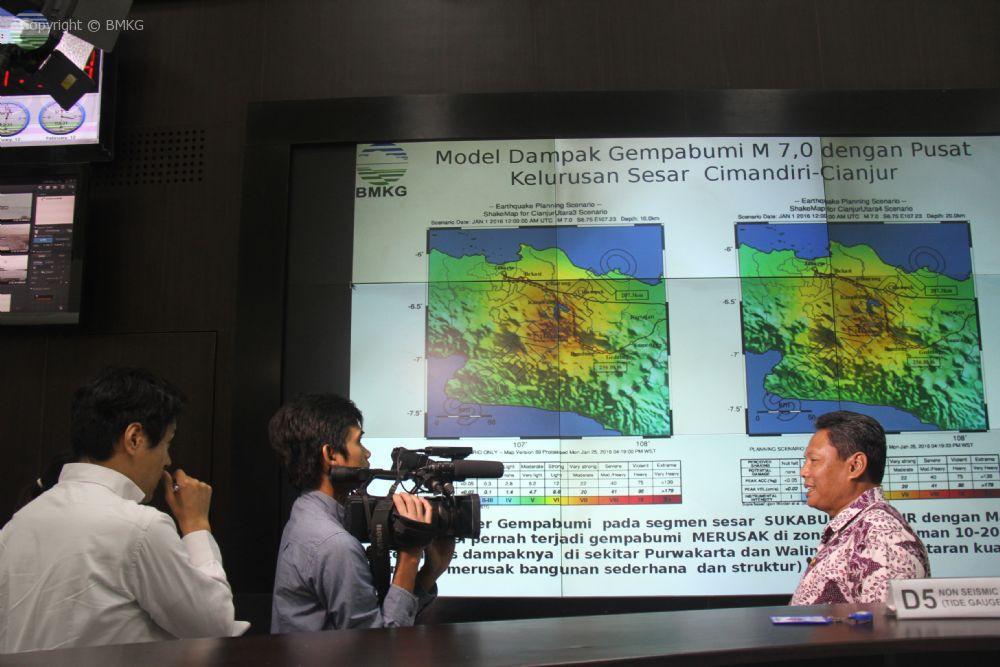 Wawancara NHK Jepang Dengan Deputi Bidang Geofisika