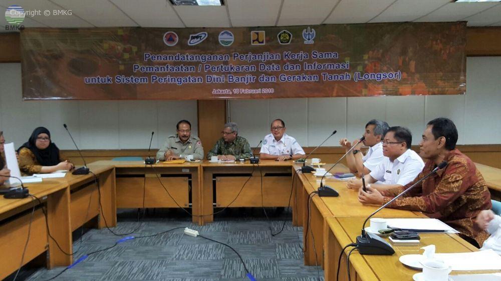 Penandatanganan Perjanjian Kerjasama BMKG Dengan Kementerian Dan Lembaga Pemerintah