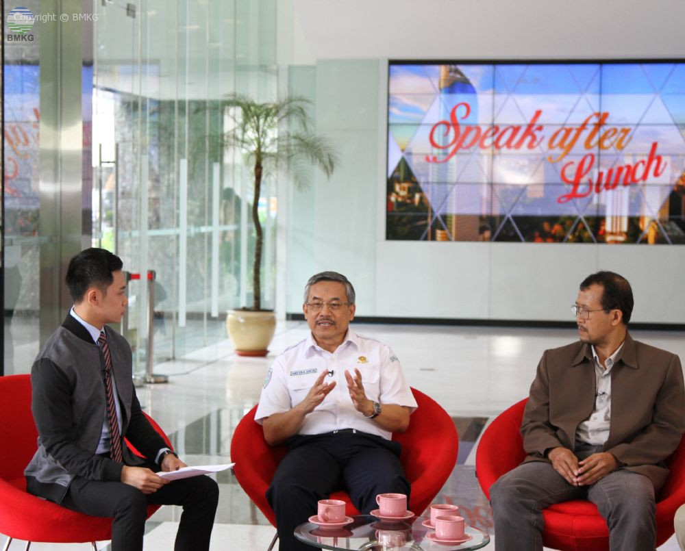 Wawancara Live Kepala BMKG dengan i-News TV