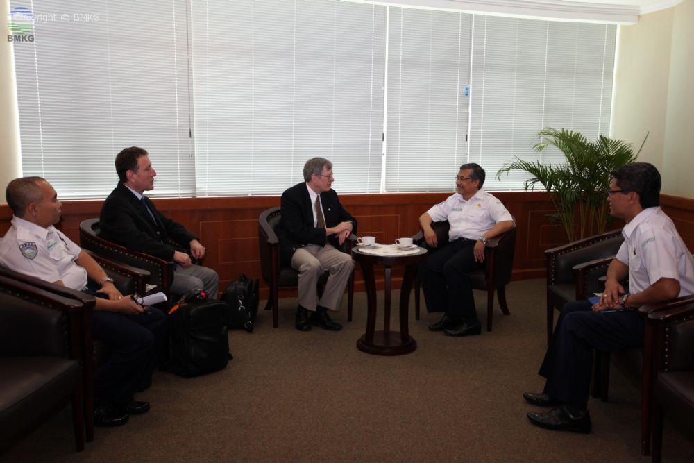 Pertemuan KBMKG dengan Perwakilan WMO