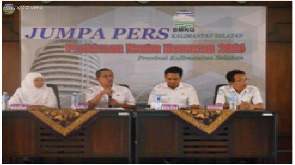 Press Release Prakiraan Musim Kemarau 2016 Kalimantan Selatan