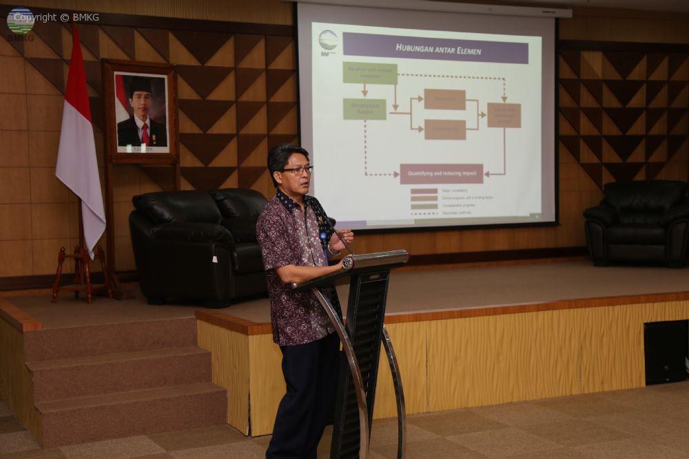 Seminar Sehari Tentang Layanan Informasi Cuaca dan Iklim Berbasis Dampak dan Resiko