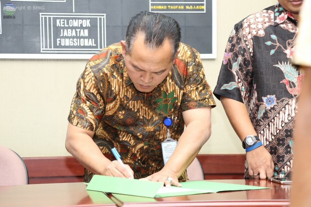 Serah Terima Jabatan Dilingkungan Biro Hukum dan Organisasi BMKG