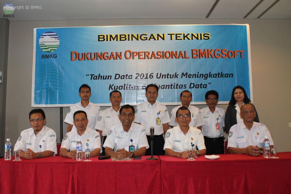 Bimbingan Teknis Dukungan Operasional BMKGSoft Balai Besar Wilayah II