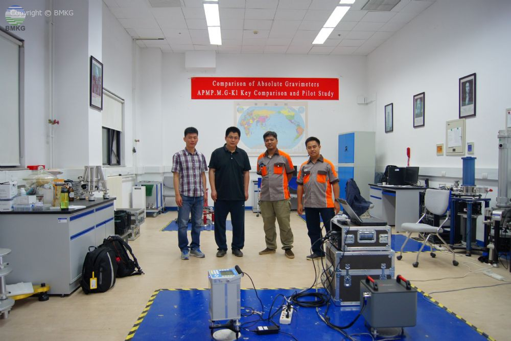 Kalibrasi dan Interkomparasi Alat Gravimeter Standard Lab Kalibrasi Geofisika BMKG di National Institute of Metrology Beijing China