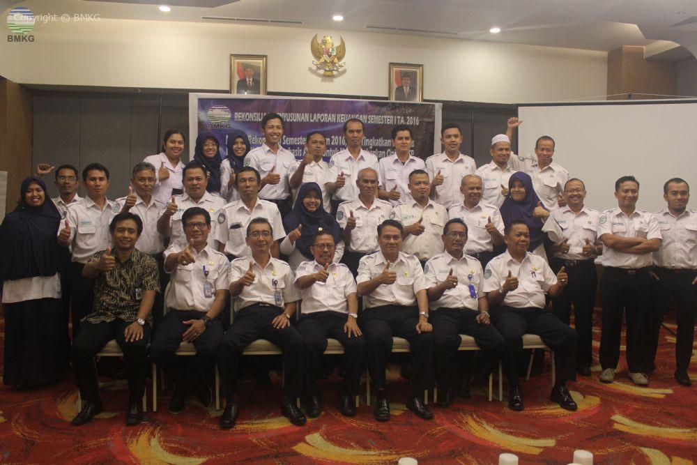Rekonsiliasi Keuangan Semester I Tahun 2016 Balai Besar MKG Wilayah II Ciputat