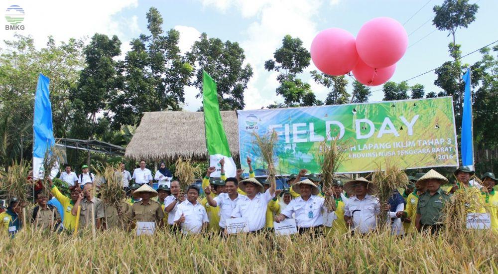 Field Day Kegiatan Sekolah Lapang Iklim Tahap III di Provinsi Nusa Tenggara Barat