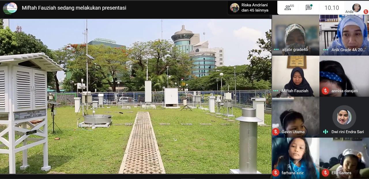Merambah Ilmu Cuaca dan Iklim di Masa Pandemi Covid-19, SD Al Jabr Lakukan Kunjungan Virtual
