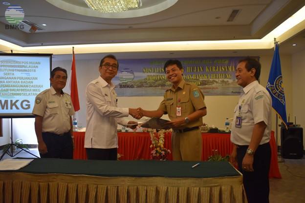 Penandatanganan Kerjasama BMKG - Bappeda Kab. Bangka