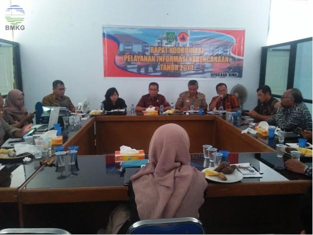 Koordinasi Pelayanan Informasi Kebencanaan Kabupaten Bima
