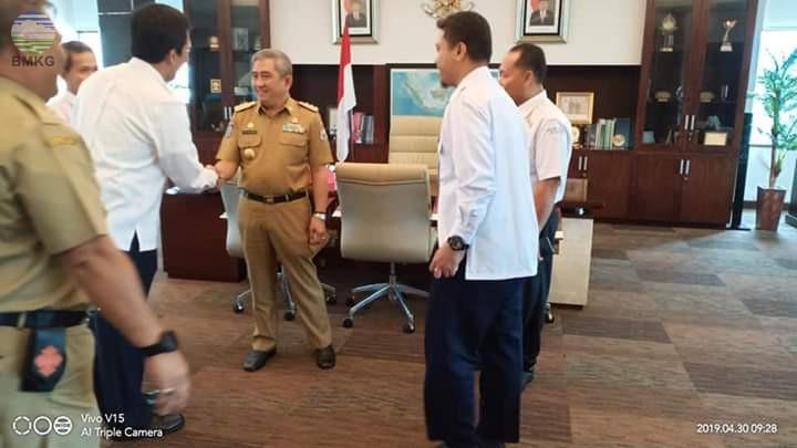 Kunjungan Kepala Pusat Seismotek ke Kantor Gubernur Sulawesi Barat dan Sulawesi Selatan