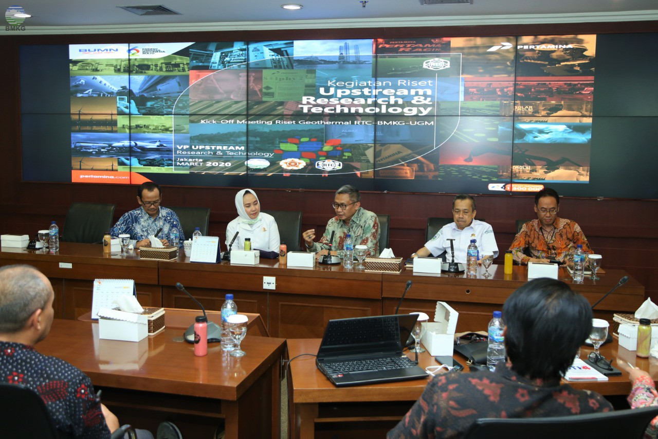 Kick Off Meeting BMKG - Pertamina Geothermal - UGM