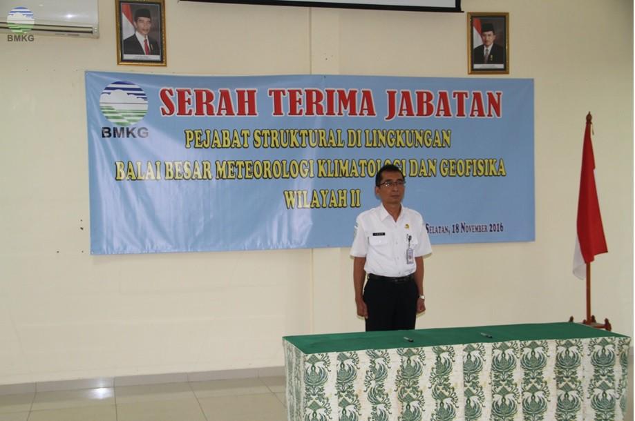 Serah Terima Jabatan di Balai Besar MKG Wilayah II