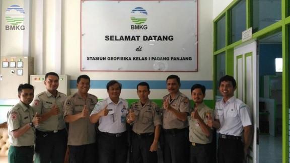 Stasiun Geofisika Padang Panjang Terima Kunjungan  BPBD Kota Padang