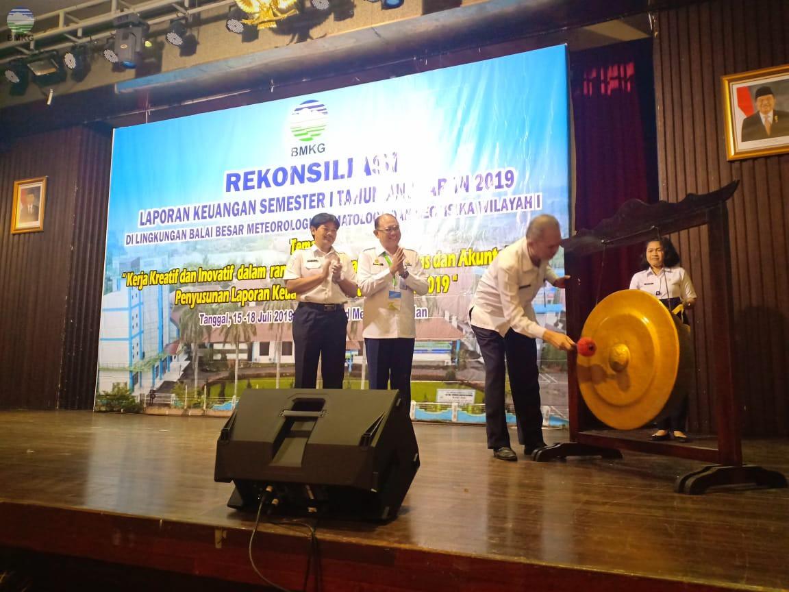 Rekonsiliasi Keuangan Semester I Tahun 2019 Balai Besar MKG Wilayah I Medan