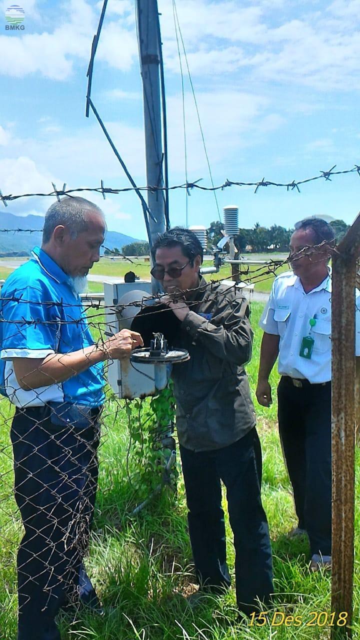 Kunjungan Kerja Deputi Bidang Inskalrekjarkom ke UPT BMKG di Provinsi NTT