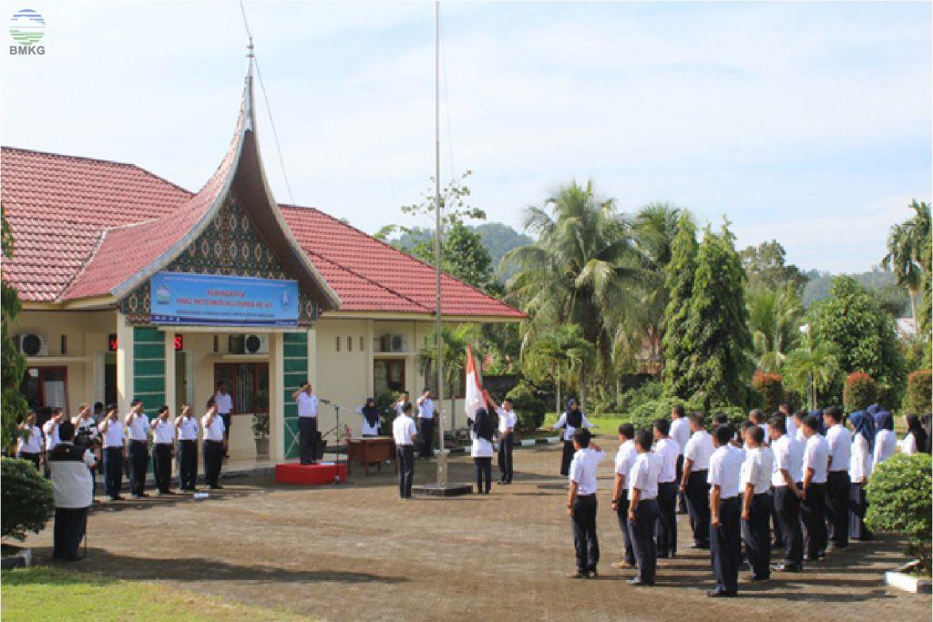 Upacara Peringatan HMD Ke 67 Tahun DI UPT BMKG Wilayah Sumatera Barat