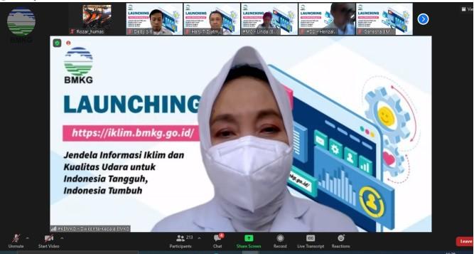 Launching Web Iklim BMKG