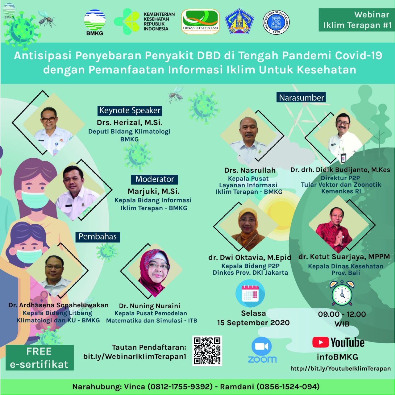 """BMKG Gelar Webinar """"Antisipasi Penyebaran Penyakit DBD di Tengah Pandemi Covid-19 dengan Pemanfaatan Informasi Iklim untuk Kesehatan"""""""