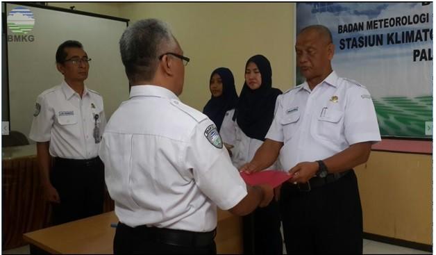 Serah Terima Jabatan di Stasiun Klimatologi Kenten Palembang