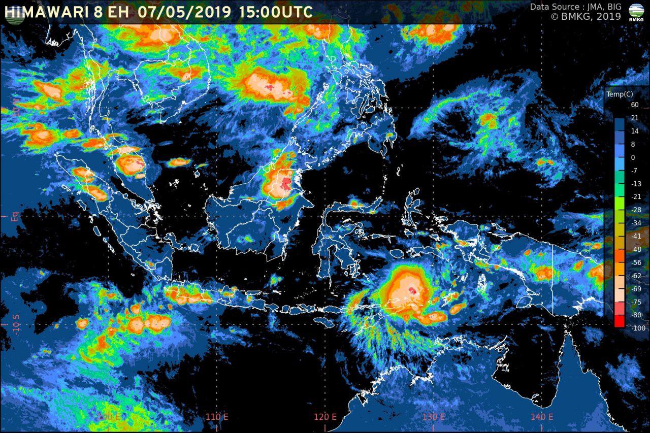 Bibit Siklon Tropis Tumbuh di Laut Banda, Waspada Cuaca Ekstrem di Indonesia Timur