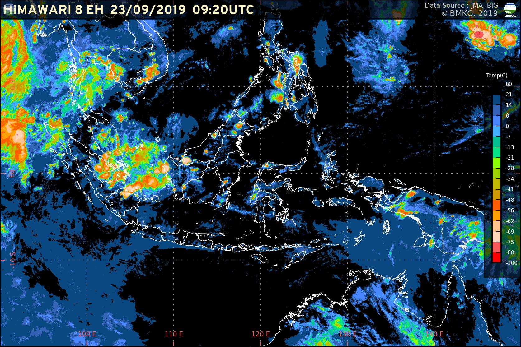 Potensi Hujan dalam Seminggu ke Depan di Wilayah Indonesia