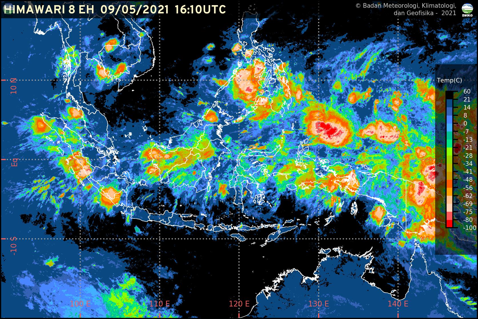 BMKG: Waspada Potensi Cuaca Ekstrem di Wilayah Indonesia dalam Sepekan ke Depan (10-17 Mei 2021)