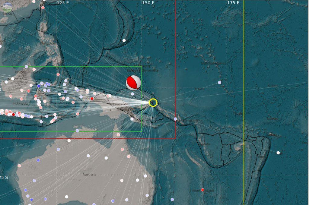 Gempabumi Papua New Guinea 17 Desember 2016 Kekuatan Mw 7.8 Tidak Berpotensi Tsunami di Wilayah Indonesia