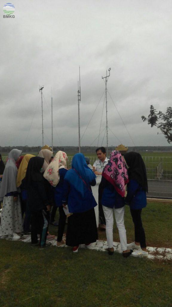 Kunjungan SMA Negeri 2 Sekampung Lampung Timur Kunjungi Stamet Radin Inten