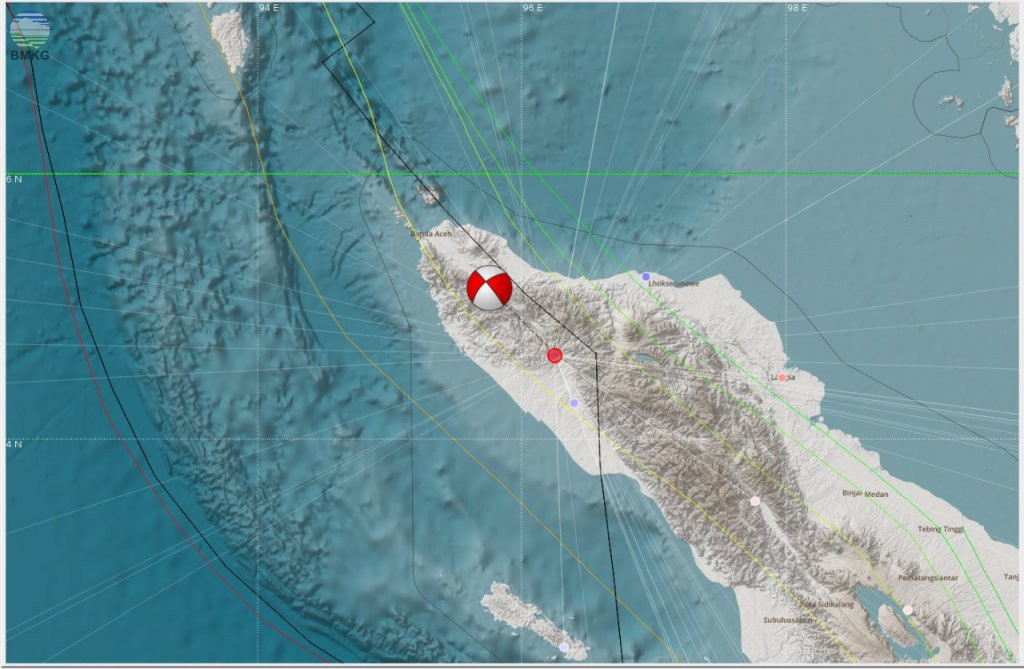 Press Release Gempabumi Provinsi Aceh, Magnitude 5.1, Kamis, 08 Februari 2018, 16.52.48 WIB