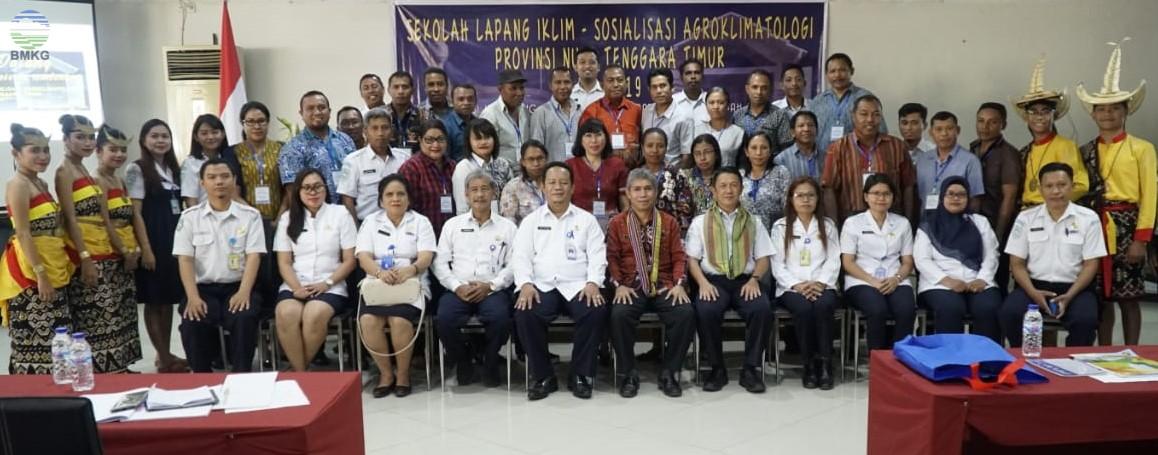 Sekolah Lapang Iklim-Sosialisasi Agroklimatologi Provinsi NTT Tahun 2019