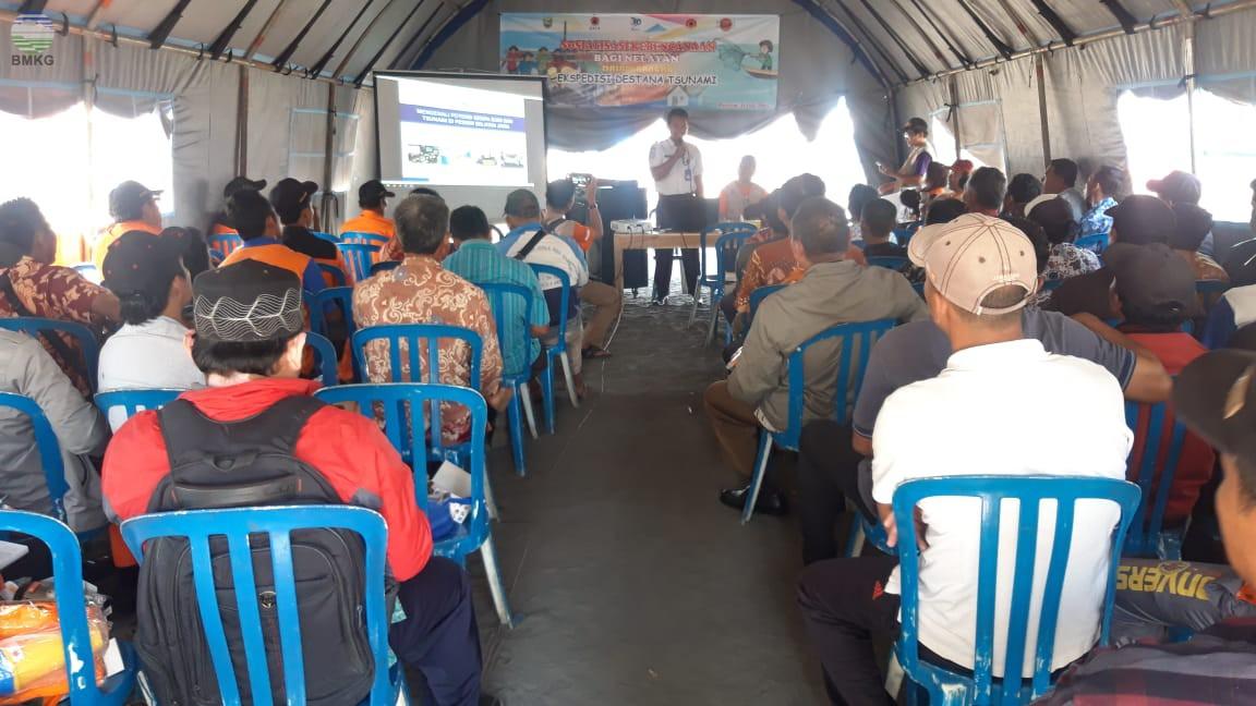 Stasiun Geofisika Banjarnegara Ikut Berpartisipasi dalam Ekspedisi Destana Tsunami 2019
