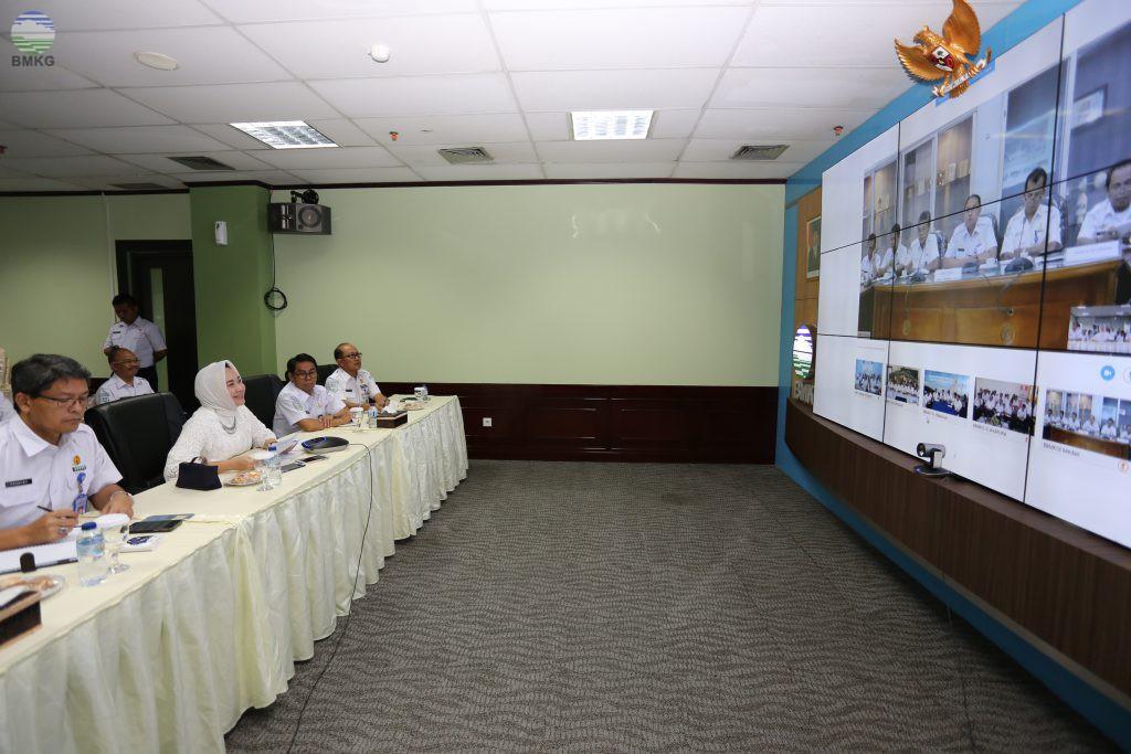 Video Conference Kepala BMKG Dengan Para Kepala Balai Besar MKG