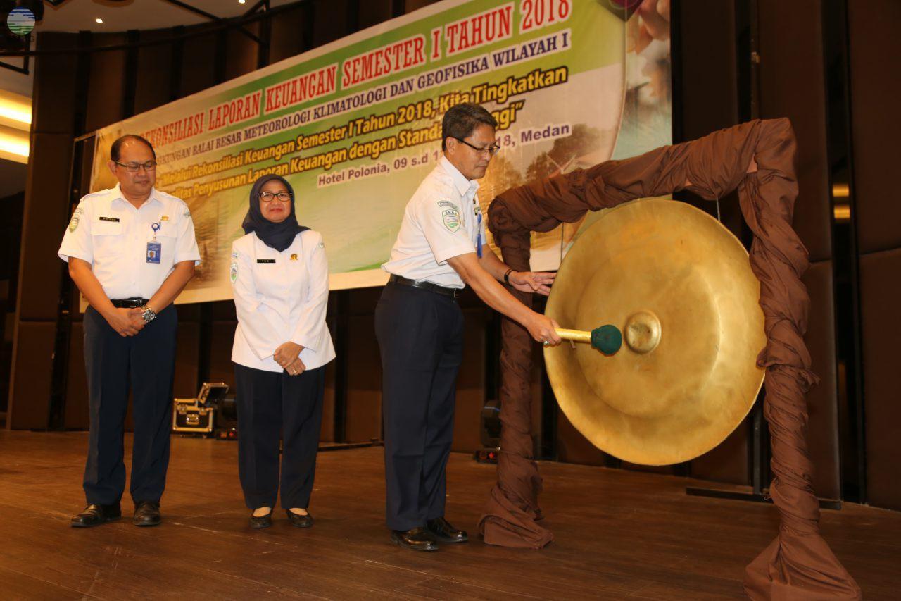 Rekonsiliasi Keuangan Semester I Tahun 2018 Balai Besar MKG Wilayah I Medan