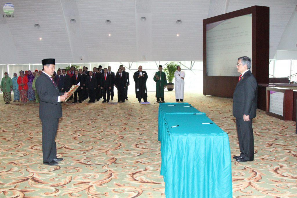 Pelantikan Pejabat Struktural di Lingkungan BMKG