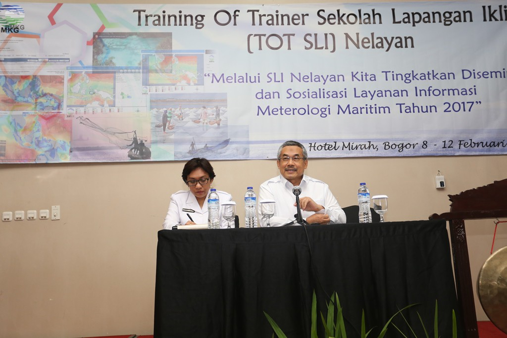 Pengarahan Kepala BMKG Pada Workshop Training of Trainer Sekolah Lapang Iklim Nelayan
